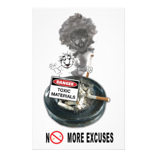NO EXCUSES Stop Smoking Stationery