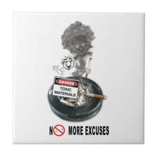 NO EXCUSES Stop Smoking Tile