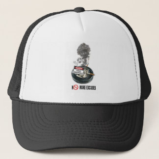 NO EXCUSES Stop Smoking Trucker Hat