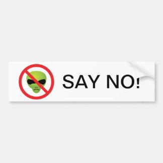 No Extraterrestrials Bumper Sticker