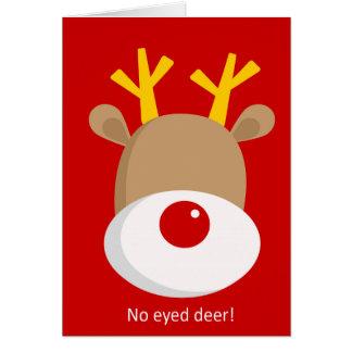 'No Eyed Deer' Reindeer Greeting Card