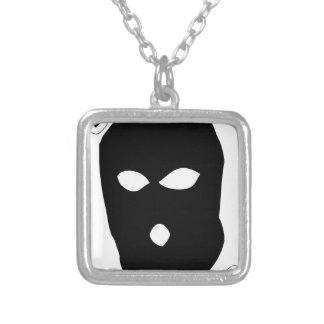 No Face No Case Silver Plated Necklace