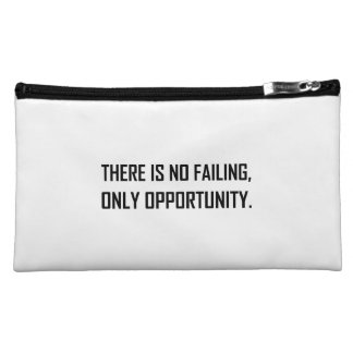 No Failing Only Opportunity Motto Makeup Bag