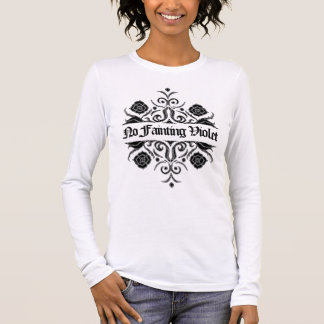 """No Fainting Violet"" Wall Flower Motif by Aleta Long Sleeve T-Shirt"
