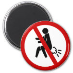 NO Farting ⚠ Funny Thai Toilet Sign ⚠ 2 Inch Round Magnet