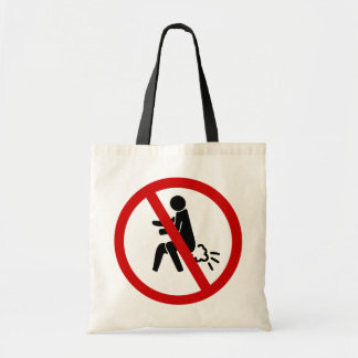 NO Farting ⚠ Funny Thai Toilet Sign ⚠ Budget Tote Bag