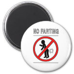 NO FARTING Warning Sign 2 Inch Round Magnet
