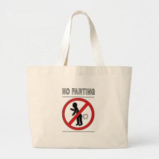 NO FARTING Warning Sign Canvas Bag
