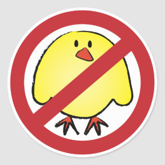 No Fat Chicks! Classic Round Sticker