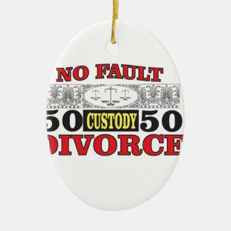 no-fault divorce 50 50 equality ceramic ornament