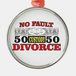no-fault divorce 50 50 equality metal ornament
