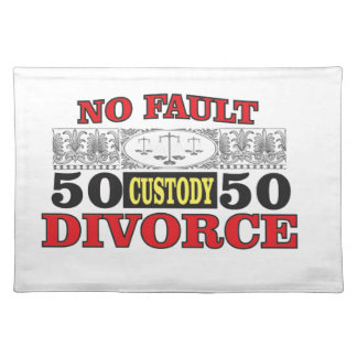 no-fault divorce 50 50 equality placemat