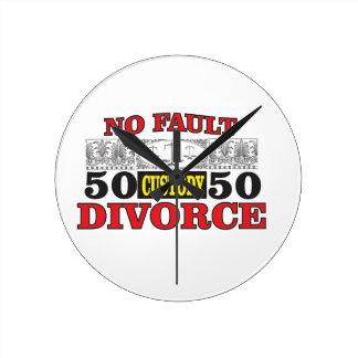 no-fault divorce 50 50 equality round clock
