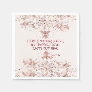 No Fear in Love Napkins Paper Napkin