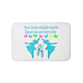 NO FEAR JUST FAITH BALLERINA BATHROOM MAT