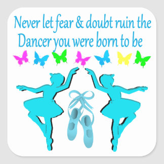 NO FEAR JUST FAITH BALLERINA SQUARE STICKER