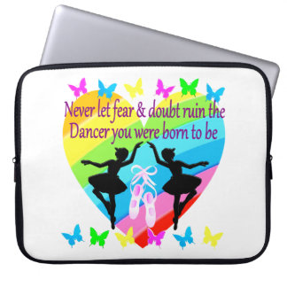 NO FEAR JUST FAITH DANCER DREAMS LAPTOP COMPUTER SLEEVE