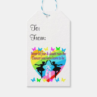 NO FEAR JUST FAITH DANCER DREAMS PACK OF GIFT TAGS