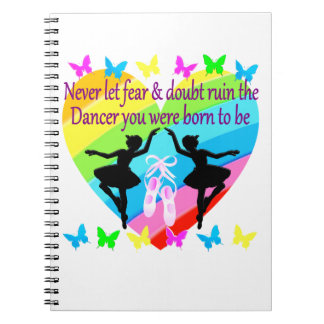 NO FEAR JUST FAITH DANCER DREAMS SPIRAL NOTEBOOK