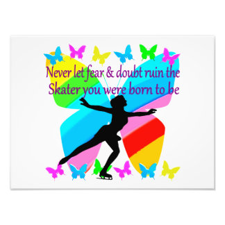 NO FEAR JUST FAITH FIGURE SKATER PHOTOGRAPHIC PRINT