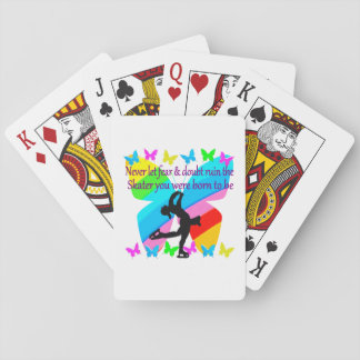 NO FEAR JUST FAITH FIGURE SKATING BUTTERFLY DESIGN PLAYING CARDS