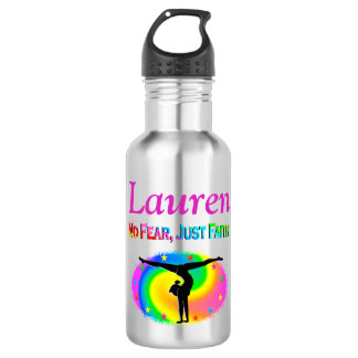 NO FEAR JUST FAITH GYMNAST GIRL WATER BOTTLE