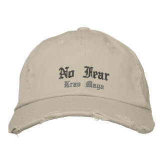 no fear krav maga cap embroidered hat