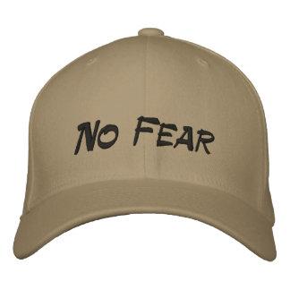 No Fear Logo Tan Baseball Cap