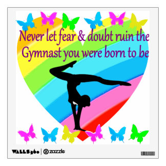 NO FEAR OR DOUBT IN BEING A GREAT GYMNAST WALL DECAL