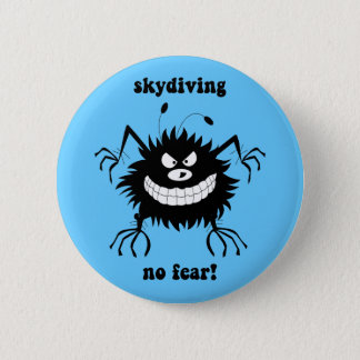 no fear skydiving 2 inch round button