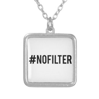 No filter silver plated necklace