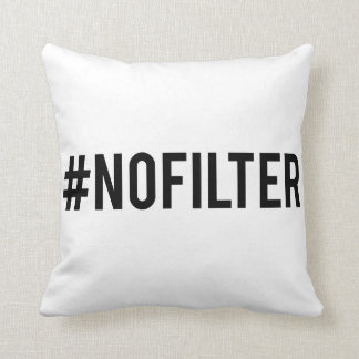 No filter throw pillow