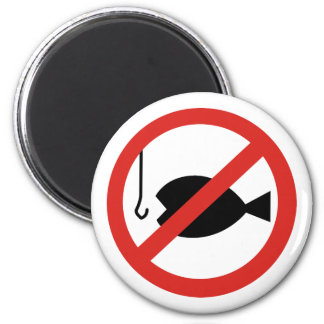No Fishing Sign - Sign of Coming Days Magnet