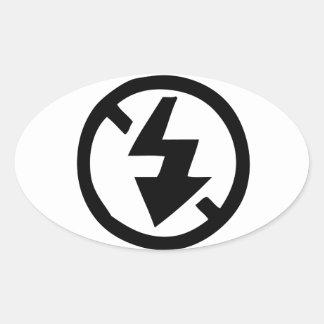 No Flash Photography Oval Sticker