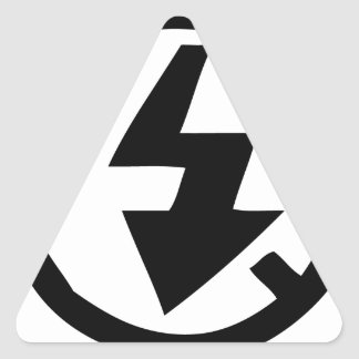 No Flash Photography Triangle Sticker