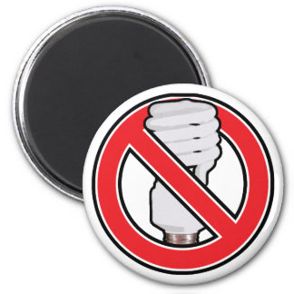 No Fluorescent Lighting 2 Inch Round Magnet