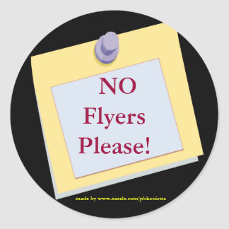 NO Flyers Please Sticker