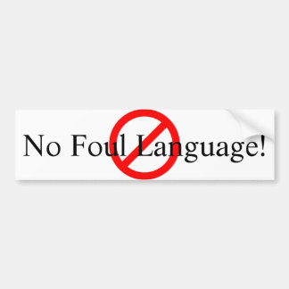 No Foul Language with Image Sticker