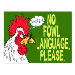 No Fowl Language Post Card