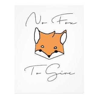 No Fox To Give Letterhead