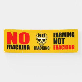No Fracking Banner 2.5' x 8' ft