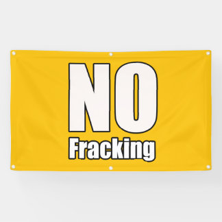 No Fracking Banner 3' x 5' ft