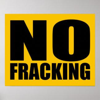 No Fracking Poster