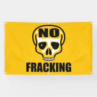 No Fracking Skull Banner 3' x 5' ft