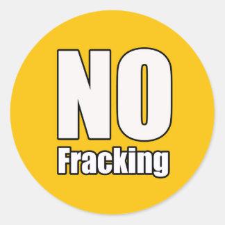 No Fracking Sticker