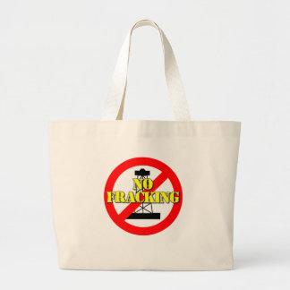 No Fracking UK 2 Large Tote Bag