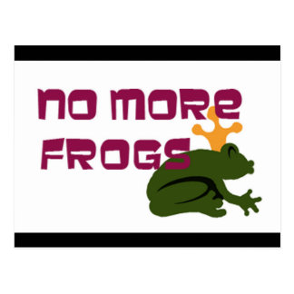no frogs postcard