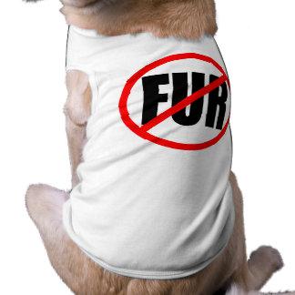 """NO FUR"" DOG TEE SHIRT"