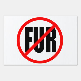 """""""NO FUR"""" double-sided"""