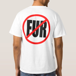 """NO FUR"" double-sided T-Shirt"